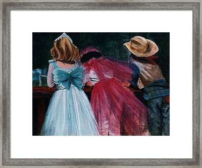 Cowboys And Queens Framed Print by Victoria Heryet