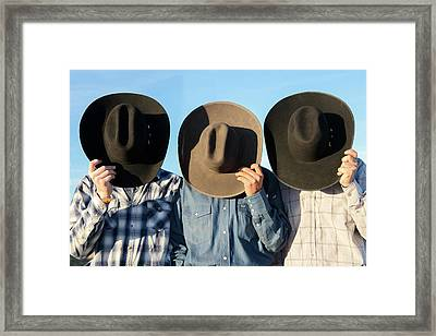 Cowboys Anonymous Framed Print by Todd Klassy