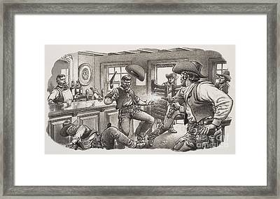 Cowboys Of Oregon  Framed Print by Pat Nicolle