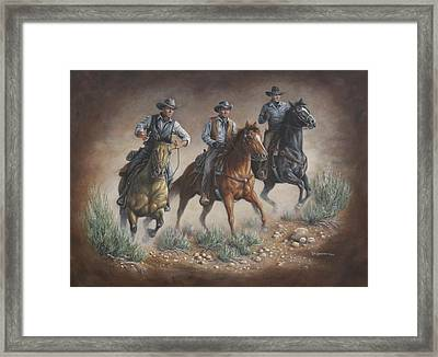 Cowboys Of Star Trek Framed Print by Kim Lockman