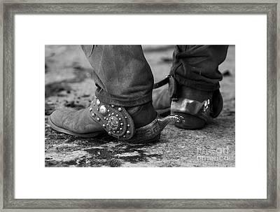 Cowboy's Spurs Framed Print by Carol Walker