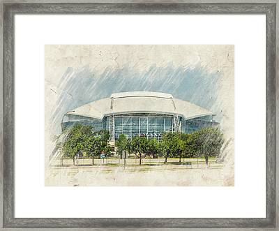 Cowboys Stadium Framed Print by Ricky Barnard