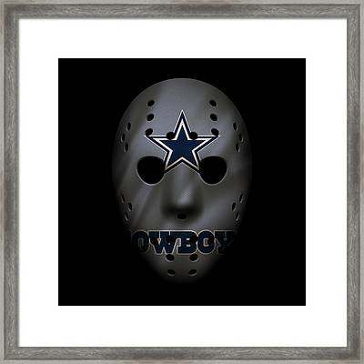 Cowboys War Mask 2 Framed Print