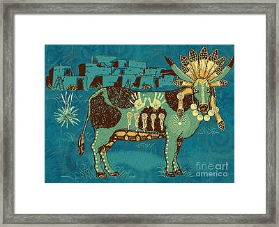 Cowchina Framed Print by Laura Brightwood
