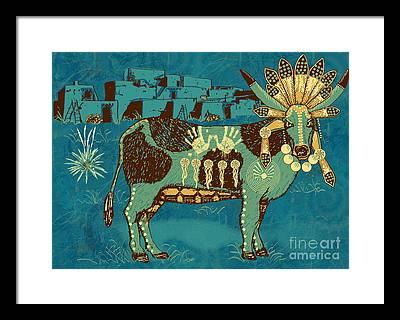 Bull Framed Prints