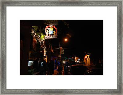 Cowgirl Bar In Santa Fe Framed Print