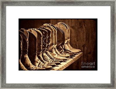 Cowgirl Boots Collection Framed Print by American West Legend By Olivier Le Queinec