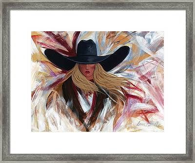 Framed Print featuring the painting Cowgirl Colors by Lance Headlee