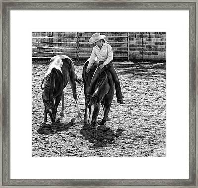 Cowgirl Framed Print by DJ Tonie