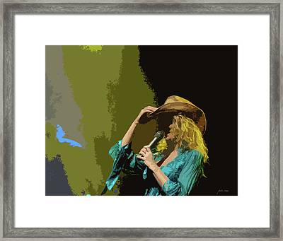 Cowgirl  Entertainer Framed Print