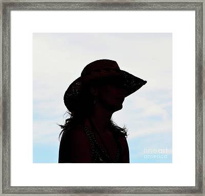 Cowgirl In The Sky Framed Print