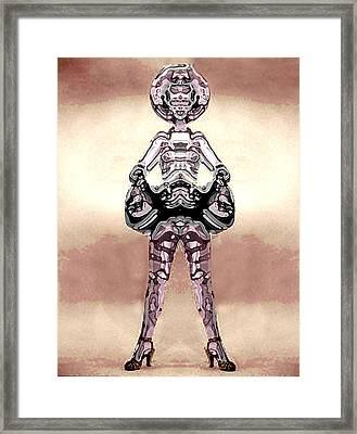 Cowgirl Framed Print by Peter Lloyd