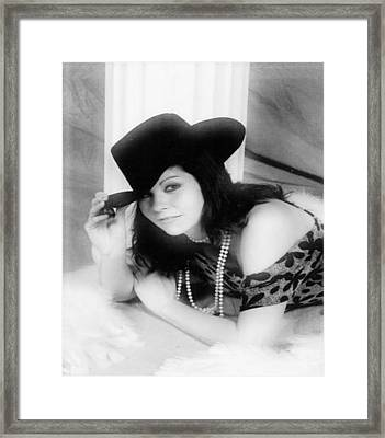 Cowgirl Framed Print by Raven Moon