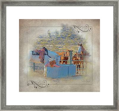 Cowgirl Spa 5p Of 6 Framed Print