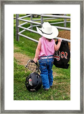 Cowgirl Up Framed Print by Greg Martin