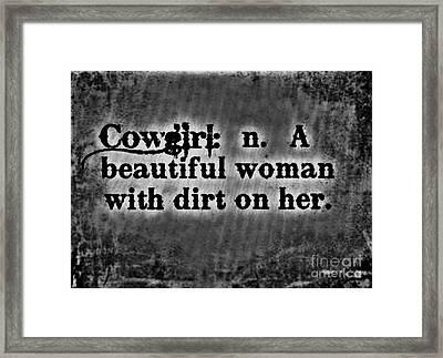 Cowgirls B-w Framed Print