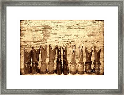 Cowgirls Night Out Framed Print by American West Legend By Olivier Le Queinec