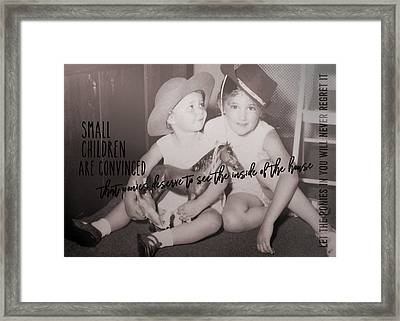 Cowgirls Quote Framed Print by JAMART Photography