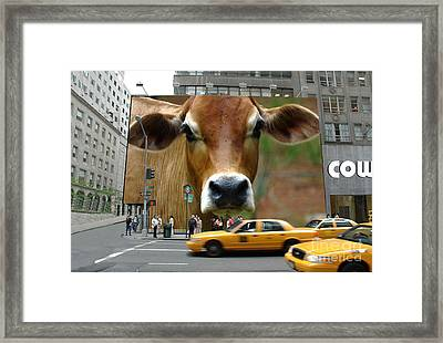 Cowhouse Street Art 02 Framed Print by Geordie Gardiner