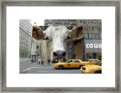 Cowhouse Street Art No. 1 Framed Print by Geordie Gardiner
