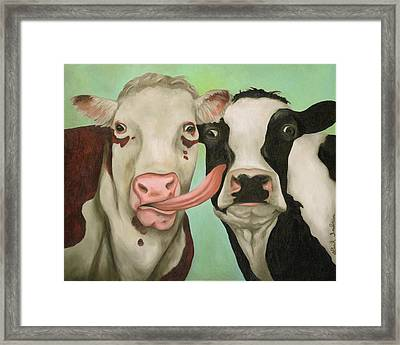 Cowlicious Framed Print by Leah Saulnier The Painting Maniac