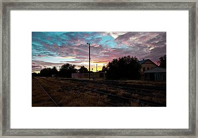 Cowra Sunset Framed Print by John Buxton