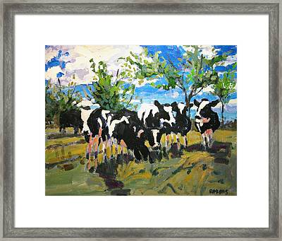 Cowscape Framed Print by Brian Simons