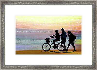 Cox Bay Bike Framed Print