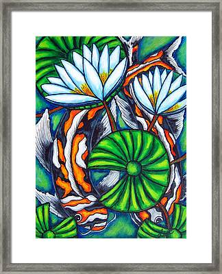 Coy Carp Framed Print by Lisa  Lorenz