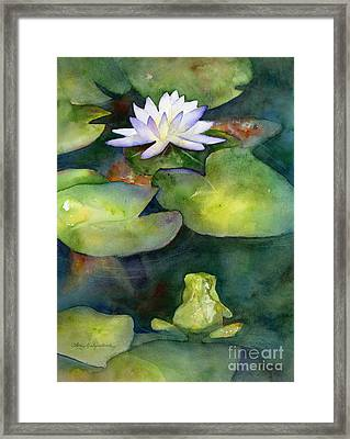 Coy Koi Framed Print by Amy Kirkpatrick