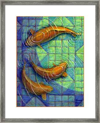 Framed Print featuring the painting Coy Koi by Jane Bucci