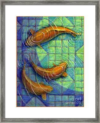 Coy Koi Framed Print by Jane Bucci