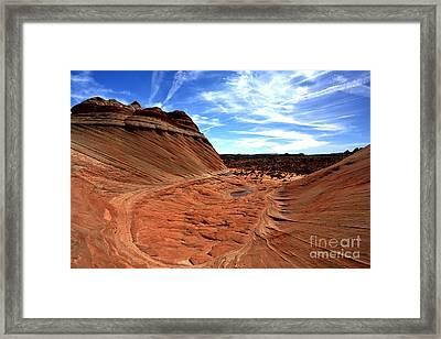 Coyote Buttes Crater Framed Print by Adam Jewell