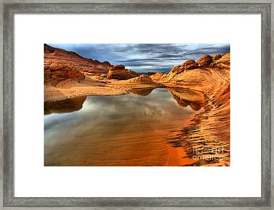 Coyote Buttes Lakeshore Framed Print by Adam Jewell