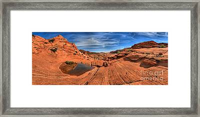 Coyote Buttes Pool Panorama Framed Print by Adam Jewell