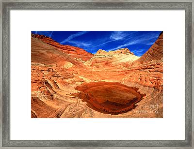 Coyote Buttes Sandstone Reflections Framed Print by Adam Jewell
