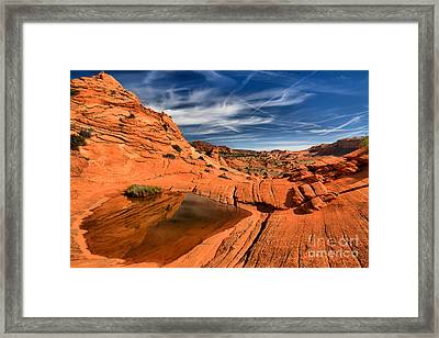 Coyote Buttes Wilderness Reflections Framed Print by Adam Jewell