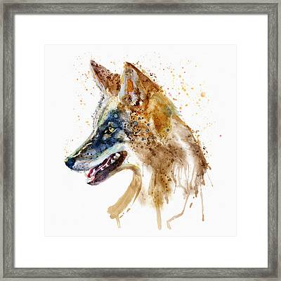 Coyote Head Framed Print