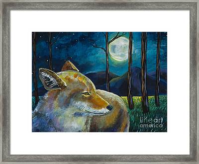 Coyote Moon Framed Print