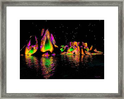 Coyote Moon Framed Print by Robert Orinski