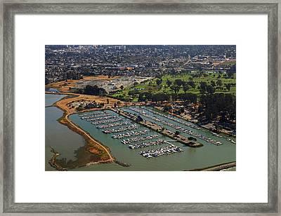 Coyote Point Marina San Francisco Bay Sfo California Framed Print by Toby McGuire