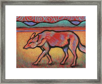 Coyote Totem Framed Print