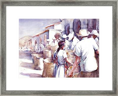 Coyotepec Framed Print by Joan  Jones