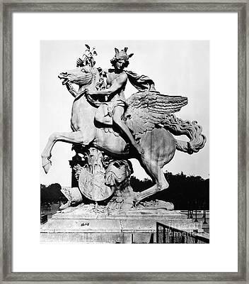 Coysevox: Mercury & Pegasus Framed Print by Granger