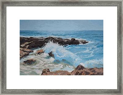 Cozumel Wave Framed Print