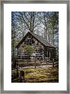 Cozy Cabin Framed Print by Joann Copeland-Paul
