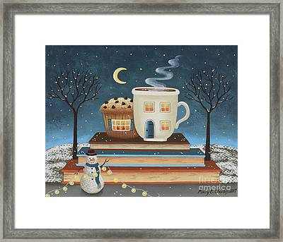 Cozy Cafe Framed Print by Mary Charles