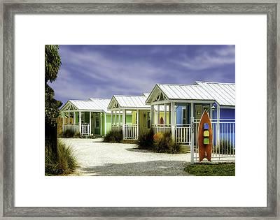 Cozy Cottages Waiting For You   -   Skbchcot320 Framed Print