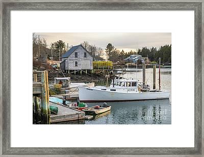 Cozy Harbor Framed Print by Benjamin Williamson