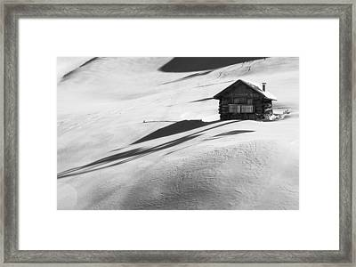 Cozy In Winter Framed Print by Carlo Trolese